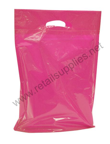 """Petite  9""""x11.5""""x2"""" Wild Pink Boutique Bags per 500 - SKU: 671262"""