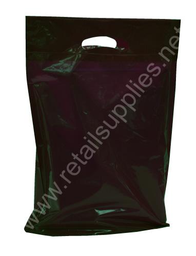 "Petite 9""x11-1/2""x2""  Black Priced Right Boutique Bags per 1000 - SKU: 671601"