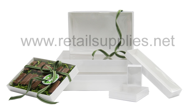 "3-1/2"" x 3-1/2"" x 1"" 10/pkg Clear Top Boxes - SKU: 610802"