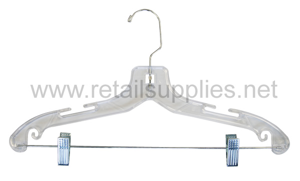 """670/RC 14"""" Youth Suit Hanger Clear Heavyweight-14"""" - SKU: 221281"""
