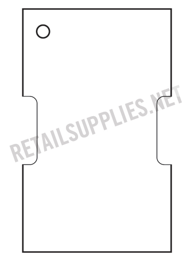 """Thermal Transfer (requires a foil ribbon) Tag 2.25"""" x 1.375"""" 967/Roll for barcode printers - SKU: 330160"""