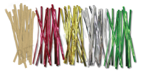 Metallic Red Twist Ties - 100 Pack - SKU: 655581