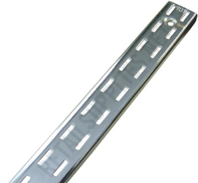"""96"""" Heavy Duty Double Slot Wall Standards Polished Chrome - ea. - SKU: 140323"""