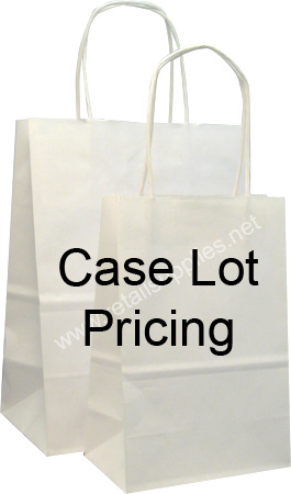 "Celebrity-Traveller 13""x6""x15"" Matte White Paper Shopping Bags case 250 - SKU: 669500"