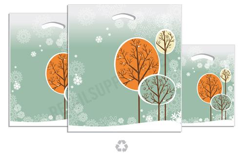 "16""x18""x4"" Amethyst  Plastic Pattern Boutique Bags- per 100 - SKU: 670565"
