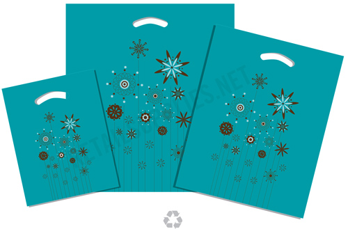 """9""""x11.5""""x 2"""" Ariana Plastic Pattern Boutique Bags- per 100 - SKU: 670503"""