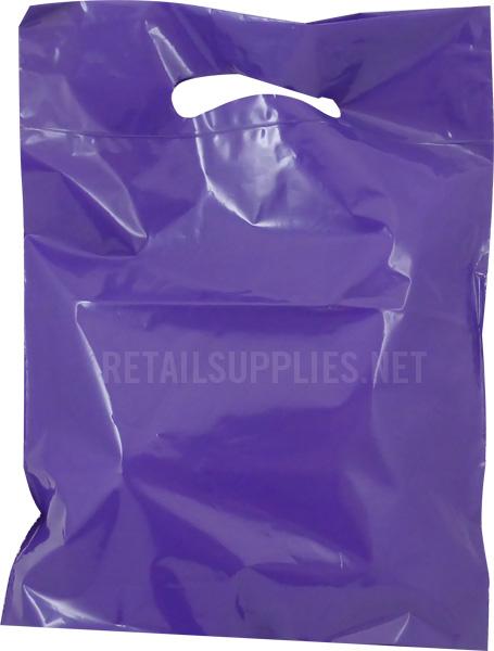 """Petite 9""""x11.5""""x2"""" Violet Boutique Bags per 500 - SKU: 671268"""
