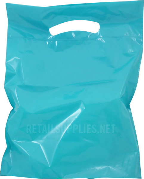 "Petite  9""x11.5""x2"" Turquoise Boutique Bags per 500 - SKU: 671242"