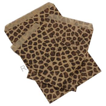 """4"""" x 6"""" 100/pkg Leopard Paper Accessory Bags - SKU: 660544"""