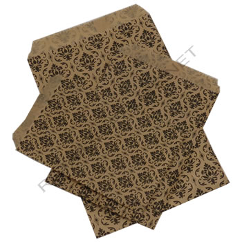 "5"" x 7"" 100/pkg Damask Paper Accessory Bags - SKU: 660530"