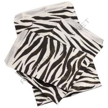 """6"""" x 9"""" 100/pkg Zebra Paper Accessory Bags - SKU: 660522"""