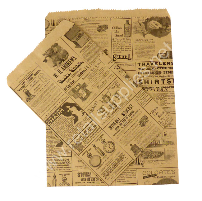"6""x9"" Newsprint Paper Accessory Bags - SKU: 660585"