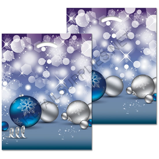 "12""x16""x3"" Crystal Pattern Poly Boutique Bags- per 100 - SKU: 670549"
