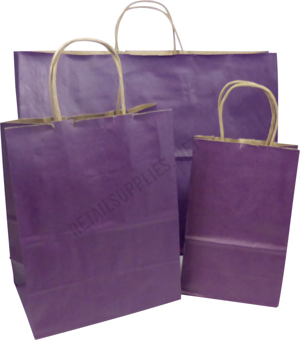 Fashion-Tote Purple Paper Shopping Bags per 100 - SKU: 669614