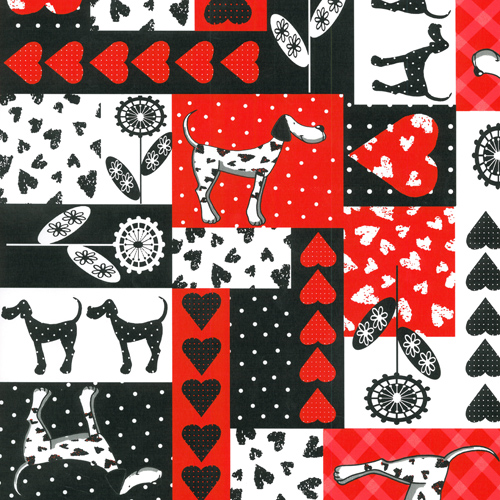 "24"" x 200 ft. 0251 Dalmation Delight Gift Wrap - SKU: 4302512"
