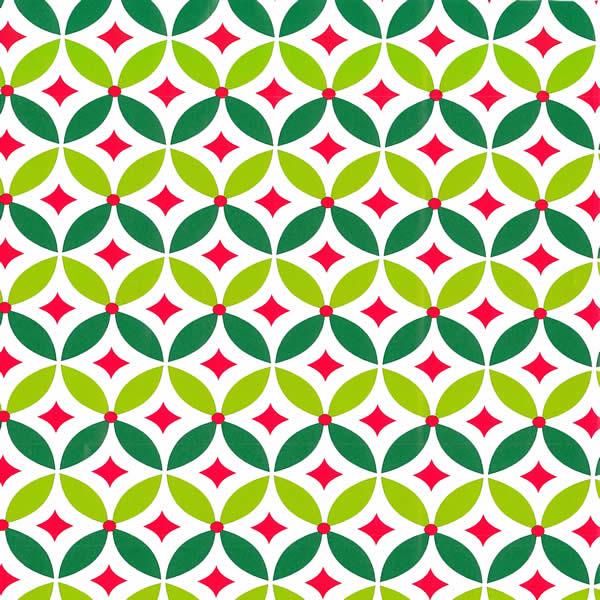 "24"" x 200' 6349 Geo Holly Gift Wrap - SKU: 4363492"