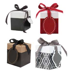 "All In One Pop-up Box - Grey/White - 3"" x 3"" x 3.5"" - SKU: 615013"