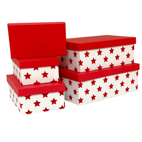 Rectangle Reindeer Nested Boxes - SKU: 600038
