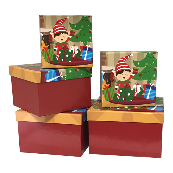 Snowman Square Nested Boxes - SKU: 600023