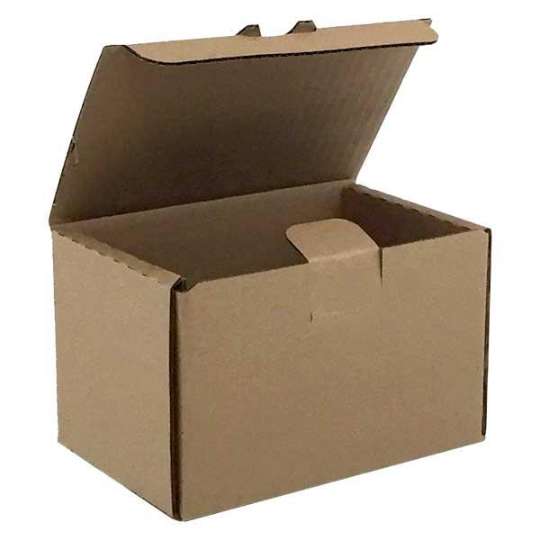 """6""""l x 4-1/4""""d x 4""""h Corrugated Kraft Tuck-it Shipping Box - SKU: 655972"""