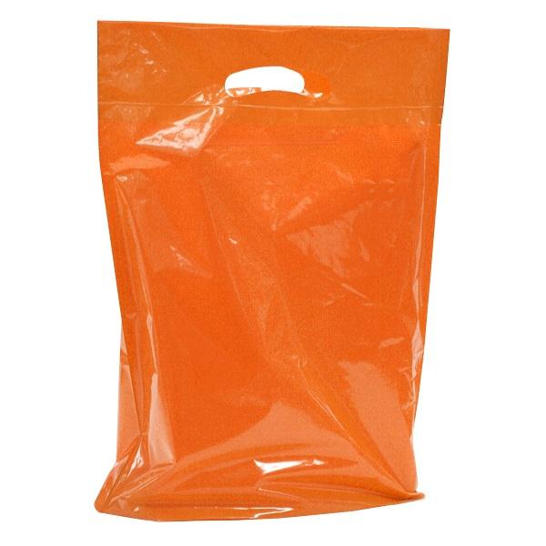 """Small 12"""" x 16"""" x 3"""" Orange Boutique Bags per 500 - SKU: 671311"""