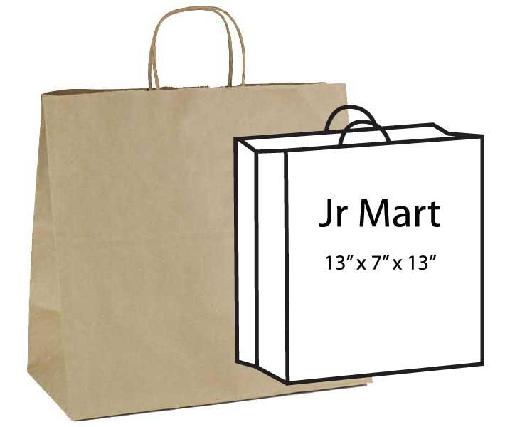 """Lion 14"""" x 9-1/2"""" x 16-1/2"""" 100% Recycled Kraft Paper Shopping Bags 200/cs - SKU: 670106cs"""