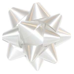 "Red 2-3/4"" Star Bows Regular Colours per 200 - SKU: 652902"