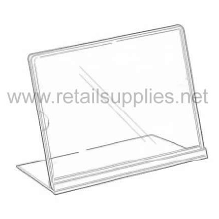"5""w x 7""h Tru-Vu Acrylic Slantback Sign Holders - SKU: 261523"