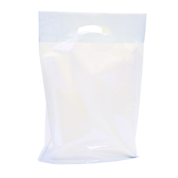 "Small - 12"" x 16"" x 3"" White Boutique Bags 4 mil HD - SKU: 671300"