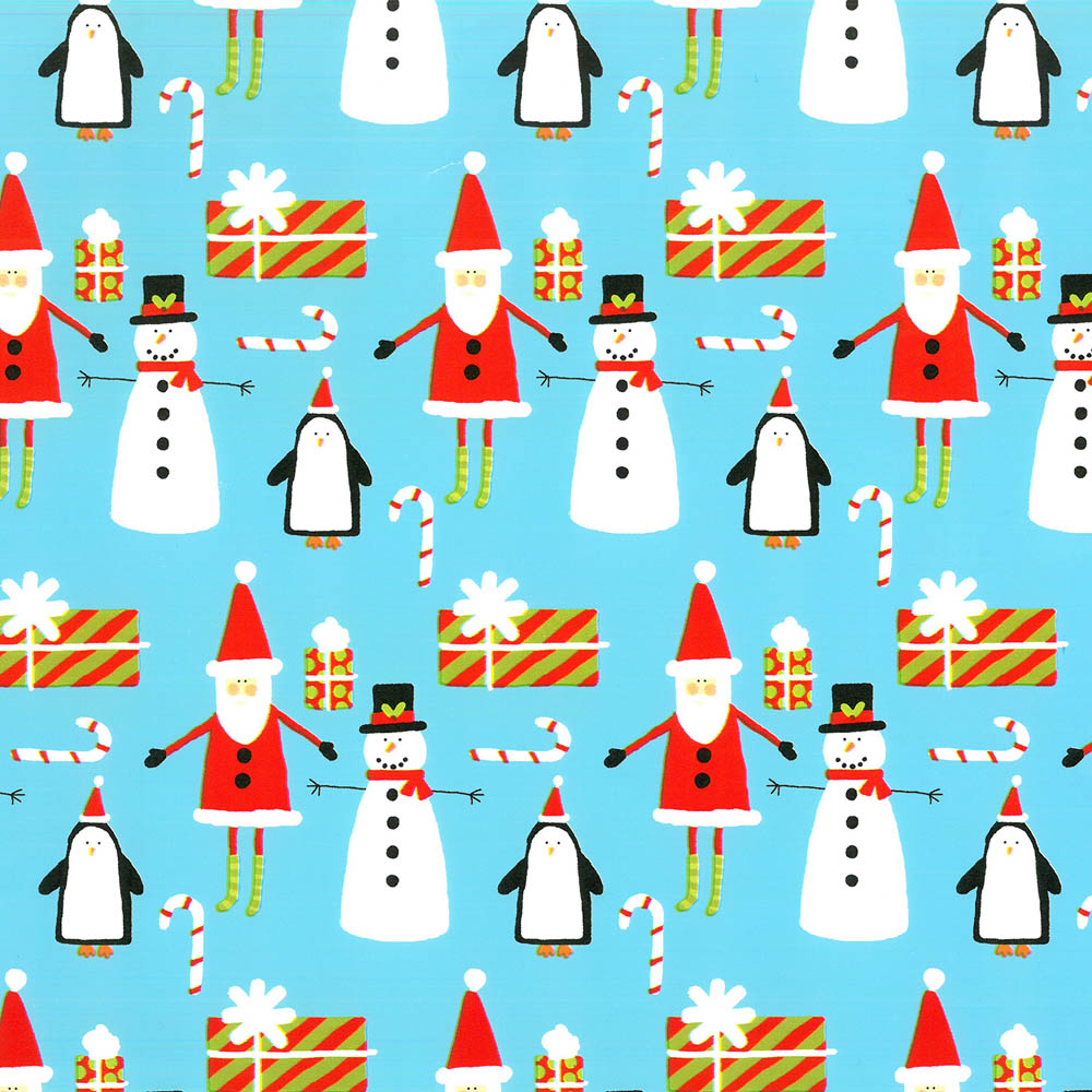 """4380138 - 24"""" x 833 ft. 8013S Snow Friends Gift Wrap"""