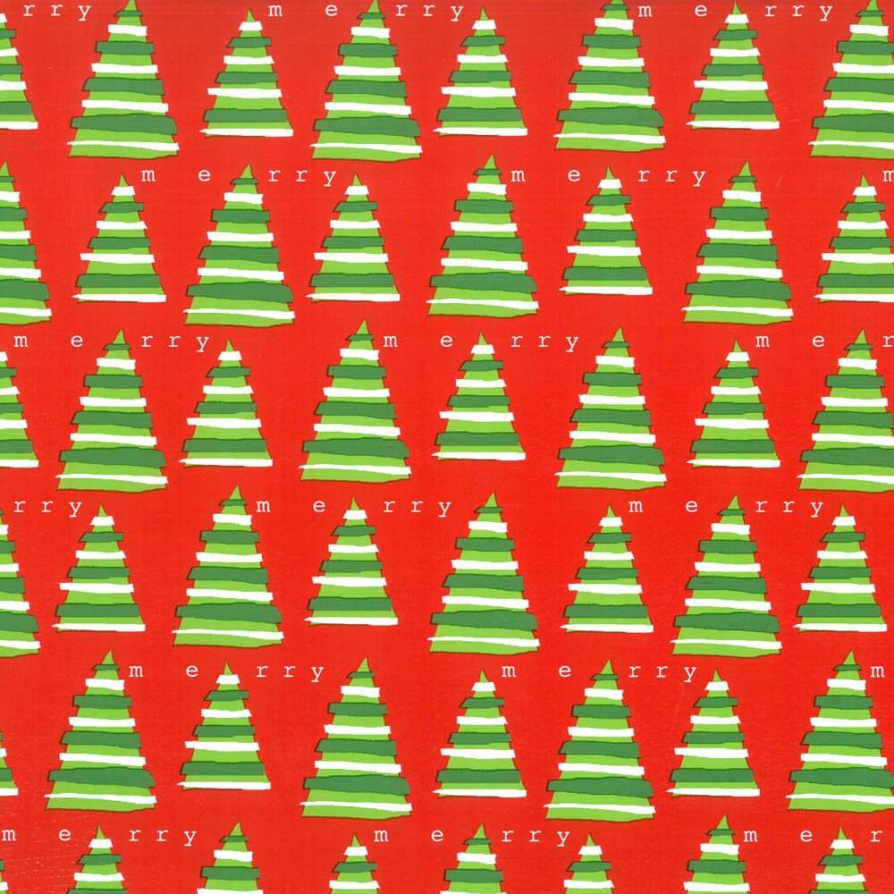 "4385022 - 24"" x 200 ft. 8502S Merry Trees Gift Wrap"