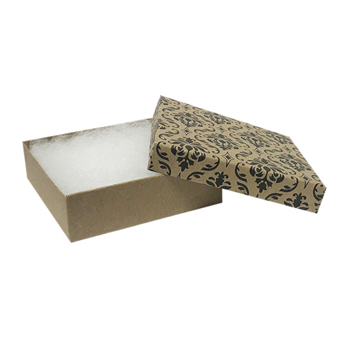 "606877 - Damask #33 Priced Right - 3-1/2"" x 3-1/2"" x 1"" Jewellery Box"