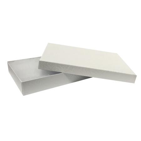 "607200 - White Swirl #75 Priced Right - 7""x5""x1"" Jewellery Box"