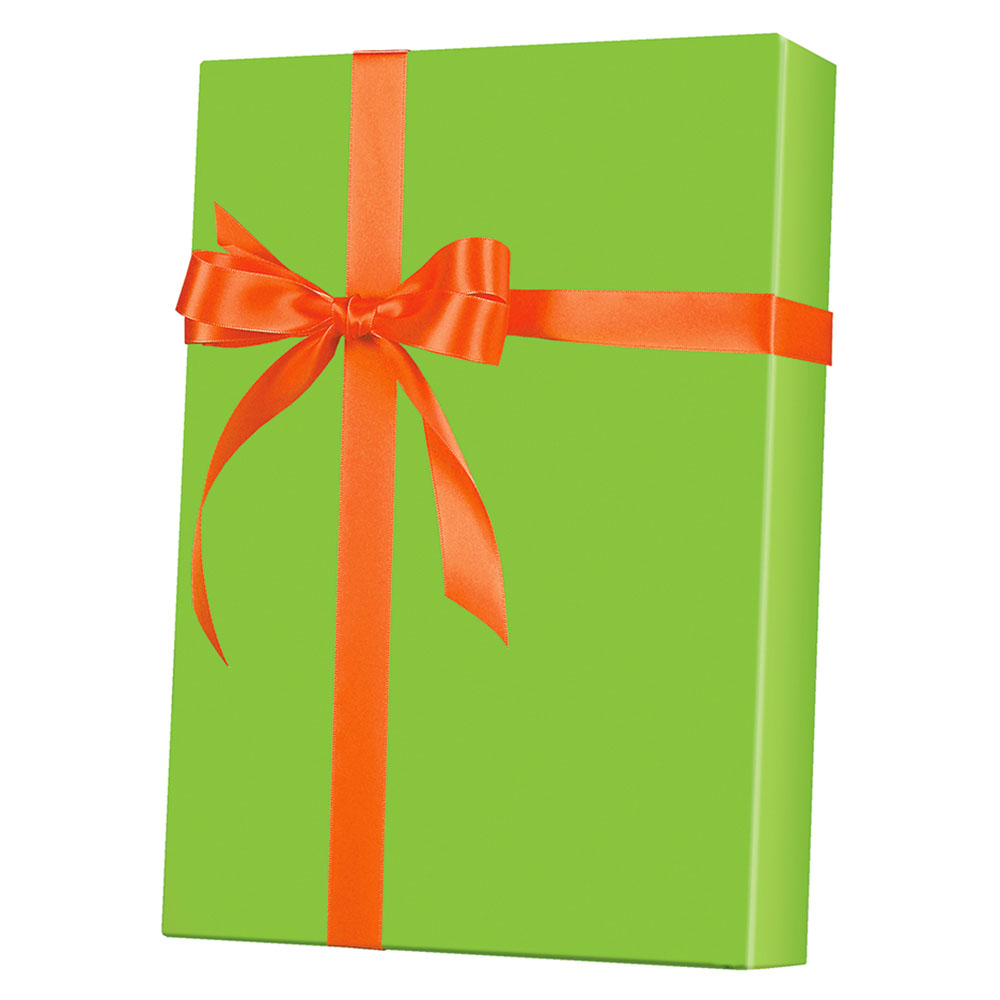 "4361202 - 24"" x 200 ft. 6120 Lime Gloss Gift Wrap"
