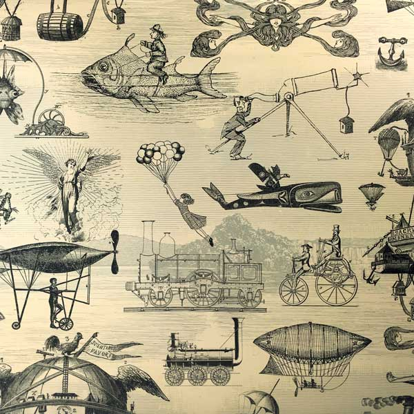 "4370434 - 24"" x 400 ft. 7043 Extraordinary Voyages Gift Wrap"