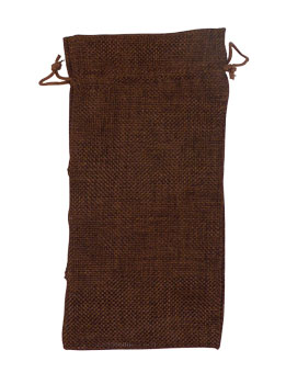 "656220 - 4"" W x 6"" T Brown Burlap Bag"