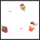 """655290 - Cupcakes 1 lb. Gusset Cellophane Bags with pattern 3-1/2"""" x 2"""" x 7-1/2"""""""