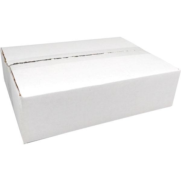 "655960 12""w x 3""h x 8 3/4""d Corrugated White Shipping Box"