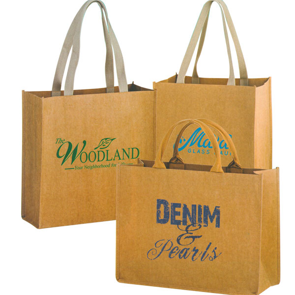 Custom Printed Bags - Washable Paper Shoppers