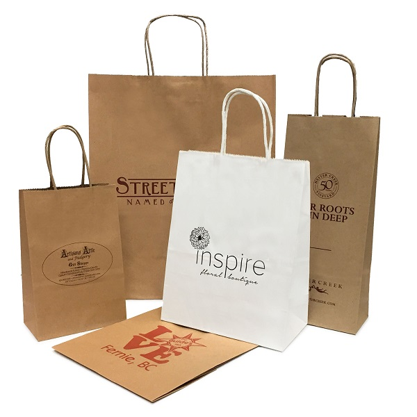 Small Run Custom Printed Bags - Ink Printed Paper Shopping Bags