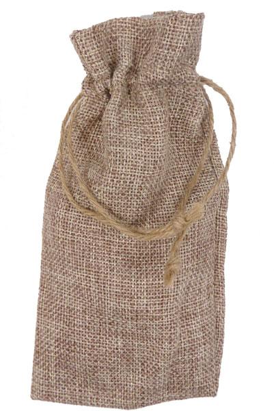 """656212 - 3"""" W x 4"""" T Natural Burlap Bag"""