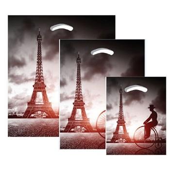 """670585- 16""""x18""""x4"""" - Eiffel plastic Pattern Boutique Bags"""