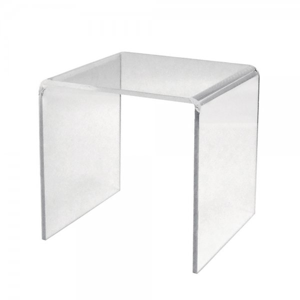 """291061 - 6""""x6""""x6"""" Square Clear Acrylic Individual Risers"""