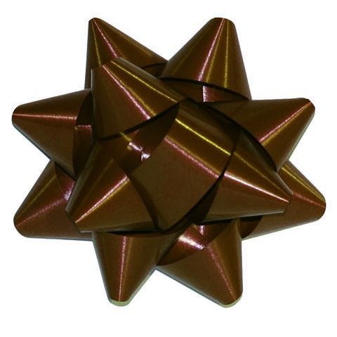 "654240 - Chocolate 3-3/4"" Star Bows per 200"