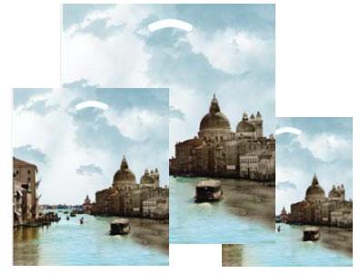 """670593 - 16""""x18""""x4"""" Venice Plastic Pattern Boutique Bags"""