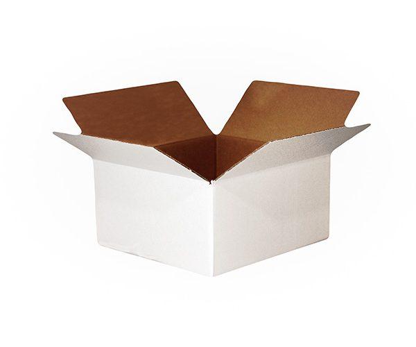 """655961 - #116W - 12""""w x 8 3/4""""d x 4 1/2""""h Corrugated Shipping Box - White - ea."""