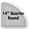"246085 - Clear Tempered Glass - 14"" Quarter Round"