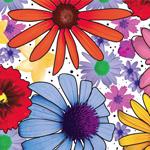 648840 - 20x30 Summer Garden Pattern Tissue Paper