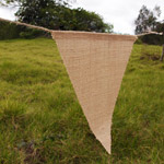 656205 - Natural Burlap Triangle Pennant Banner