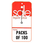 421253 - 46-52 RED REG/NOW SALE TAG (100/Box)